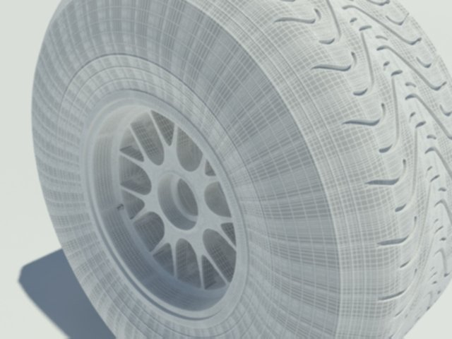 Pirelli intermediate tyre 3D Model