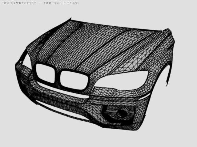 Bmw X6 Part1 3d Model In Parts Of Auto 3dexport