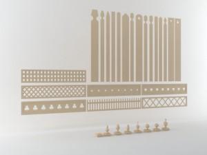 Wooden fence postcaptopperboard