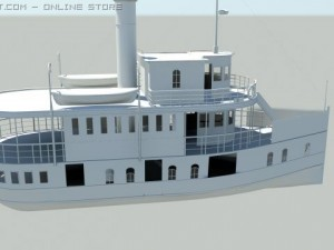 Old steam ship