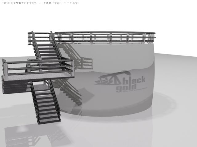 BlackGold Oil Tank 3D Model