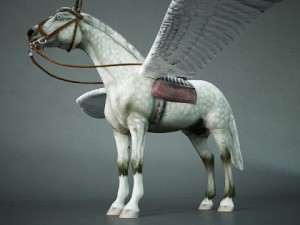 Horse with wings Pegasus