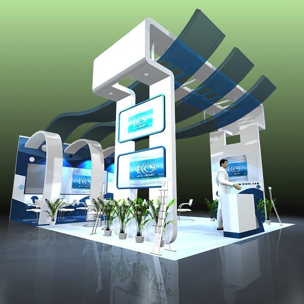 Trade Show Booth Design 020 3d Model In Exhibit 3dexport