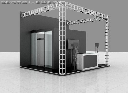 Exhibition Stand 3d Model : Exhibition stand 3d model in exhibit 3dexport