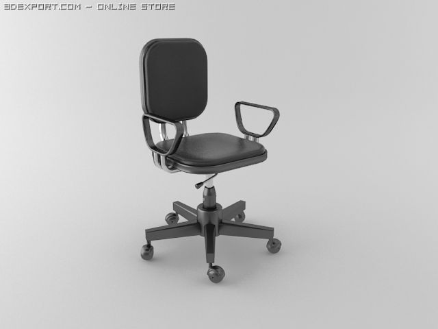 Office Chair Model C4d Max Obj S Fbx Lwo