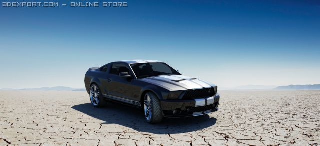 Ford Mustang Shelby Cobra GT500 3D Model