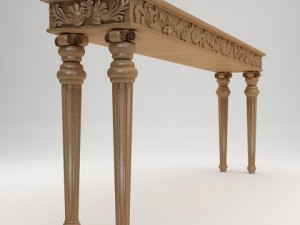 Classical style console table