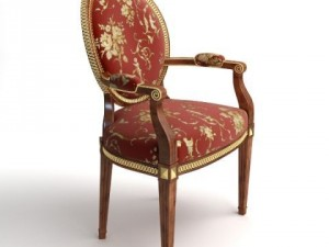 Armchair stitched with gold