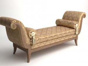 Classical Bench with Pillows