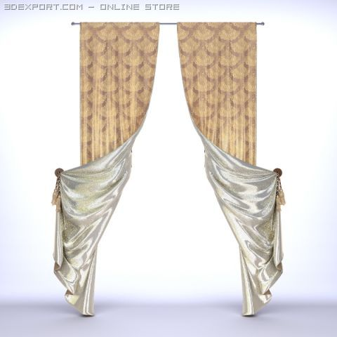Classical Curtains  2 3D Model
