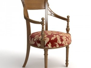Photorealistic Antique Armchair