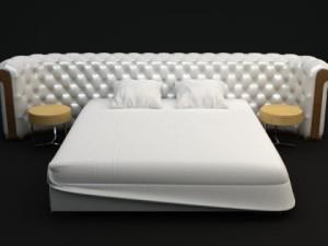 Padded Headboard Bed