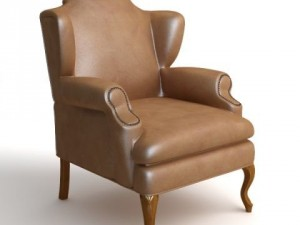 Leather Wing Chair 2