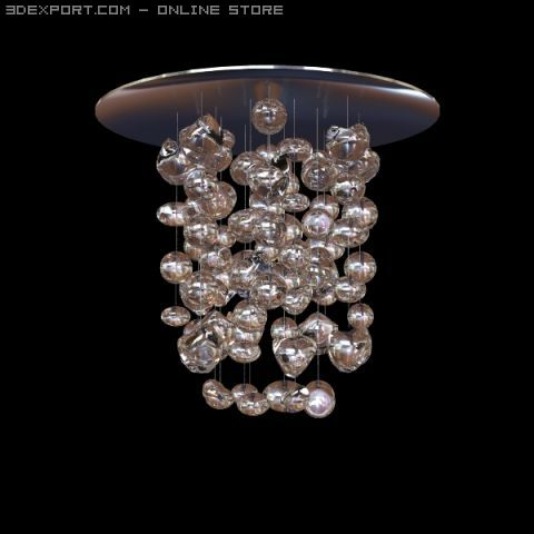 MuranoDue Hanging Light Fixture 3D Model
