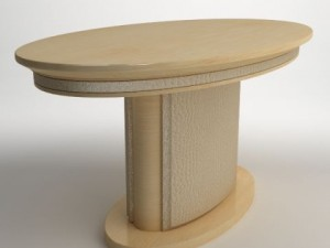Photorealistic Oval Pedestal Table