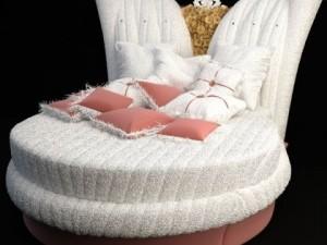Ornate Round Bed Alta Moda Chic 101