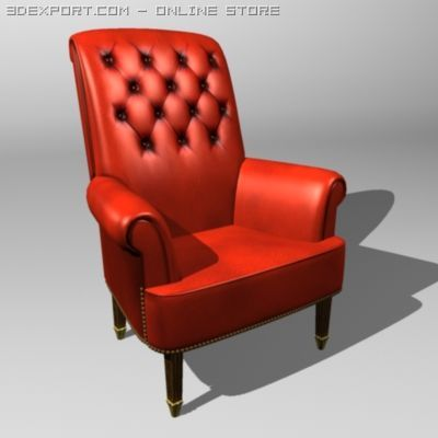 Leather Easy Chair 3D Model