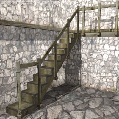 Old staircase 3D Model