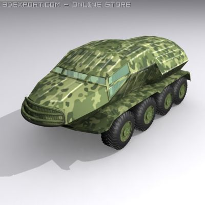 Troop Carrier 3D Model