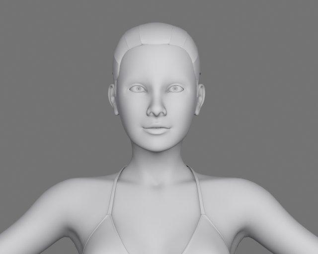 Jennifer 3D Model