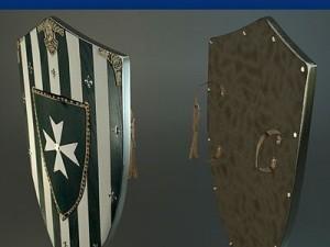Hospitaler Medieval Shield
