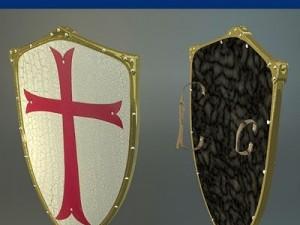 Templar medieval Shield