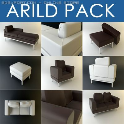 Arild Furniture Collection 3D Model