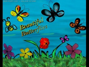 Animated Butterflies  Flowers