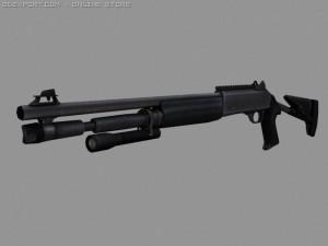 Semi auto shotgun game ready