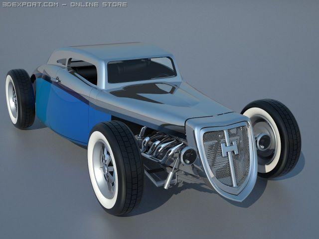 Hot Rod inspired by Chevrolet E85 3D Model