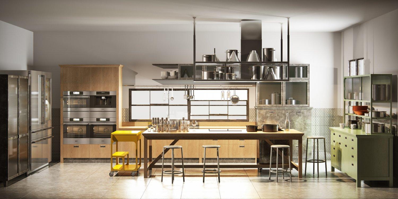 Scavolini diesel social kitchen type 001 3D Model in Kitchen 3DExport
