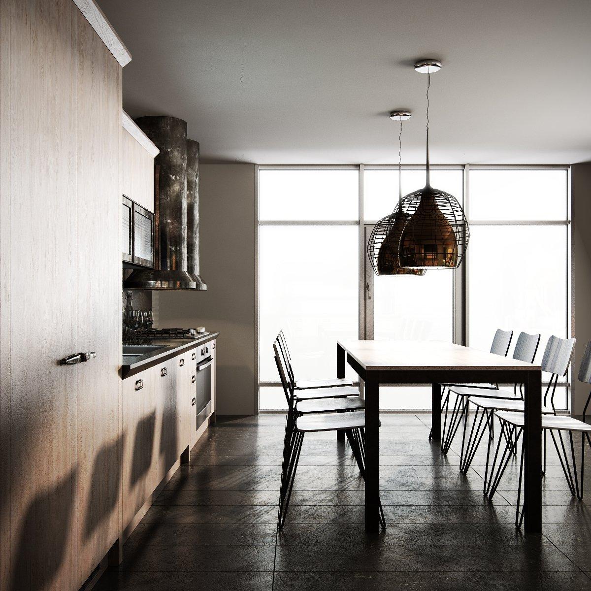 Scavolini diesel social kitchen type 002 3D Model in Kitchen 3DExport