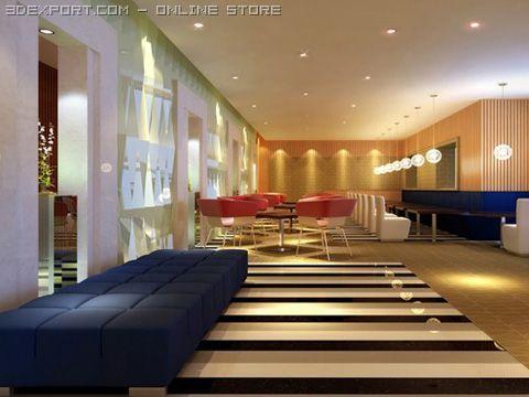Restaurant scene Photorealistic 09 3D Model