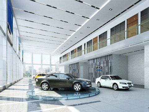 3d auto showroom decor