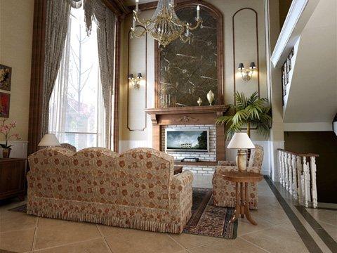Photorealistic Living Room 093 3D Model