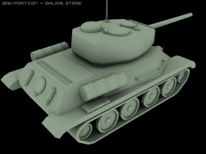Tankt34 low poly