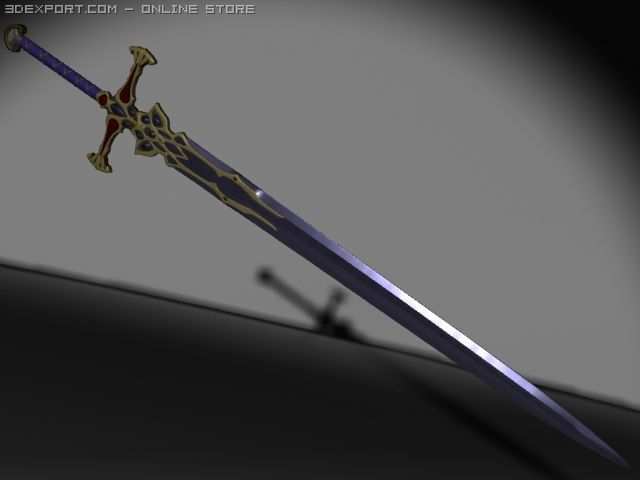 DarkElf Sword 3D Model