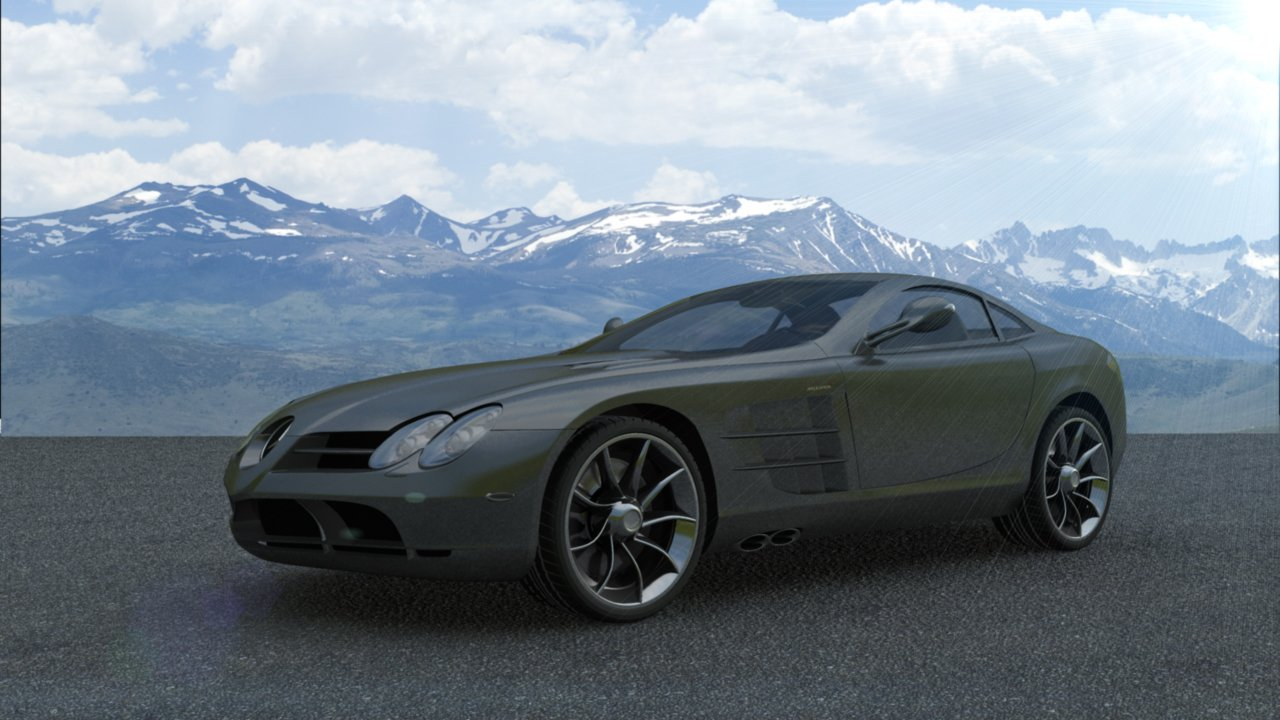 Mercedes Benz SLR McLaren At Unbelievable Price 3D Model In Sport Cars  3DExport