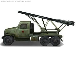 WW2 BM13 Missle truck
