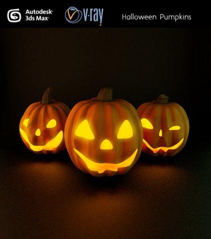 Halloween pumpkins 3D Model