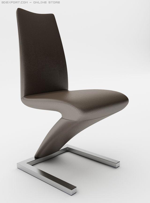 Rolf  Benz Chair  7800 3D Model
