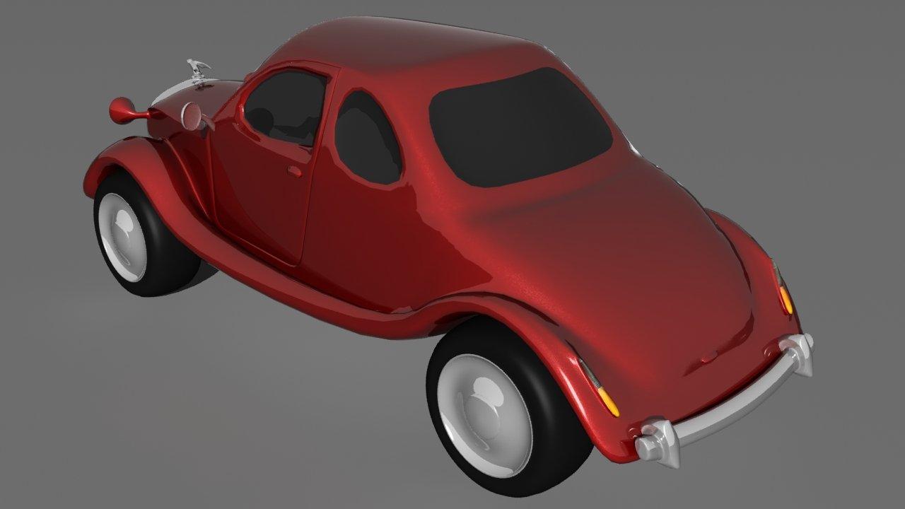 Old Cartoon Car 3d Model In Old Cars 3dexport