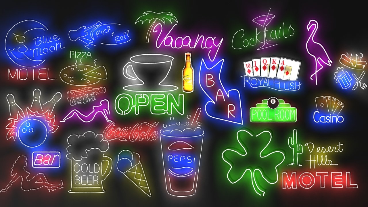 Neon signs collection 3 3D Model in Other 3DExport