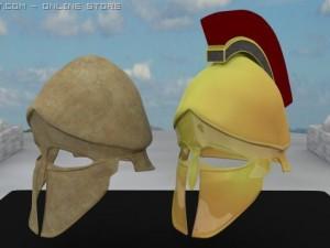 3D Model Ancient Greek Corinthian Helmets