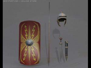 3D Model Roman Legionnaire Collection