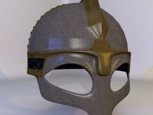 3D Model Ancient Viking Helmet