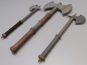 3D Model Battle axe collection