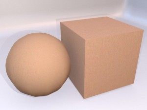 Skin texture map with normals map