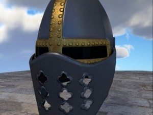 3D Model Crusader Helm