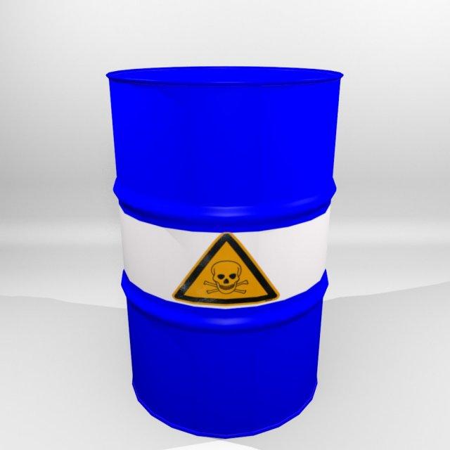 3D Model 55 Gallon Drum 3D Model